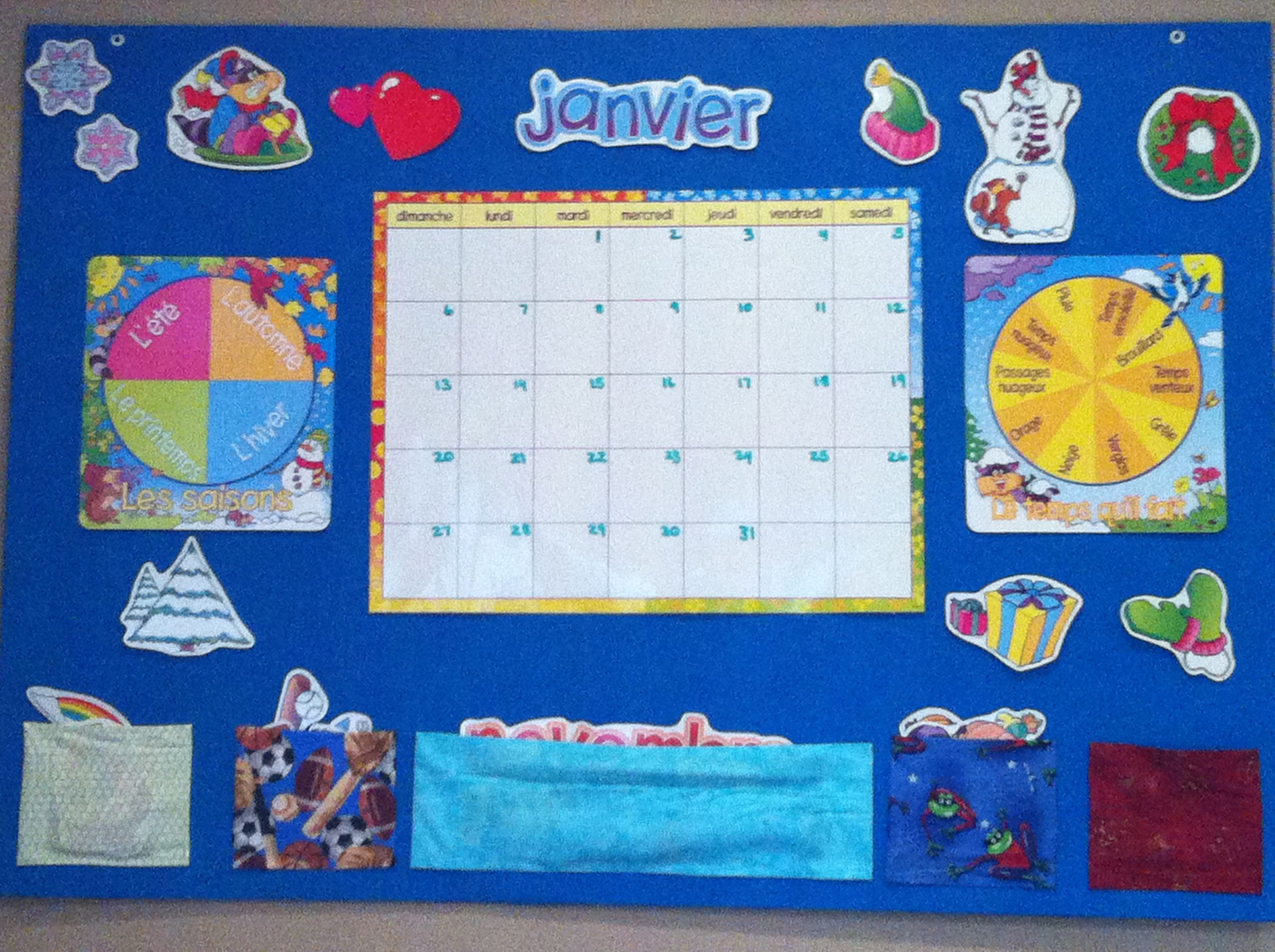 French Calendar Weather And Season Board
