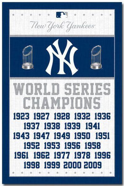 706731faa3135 NEW YORK YANKEES - WORLD SERIES CHAMPIONS POSTER - 22x34 BASEBALL 6747