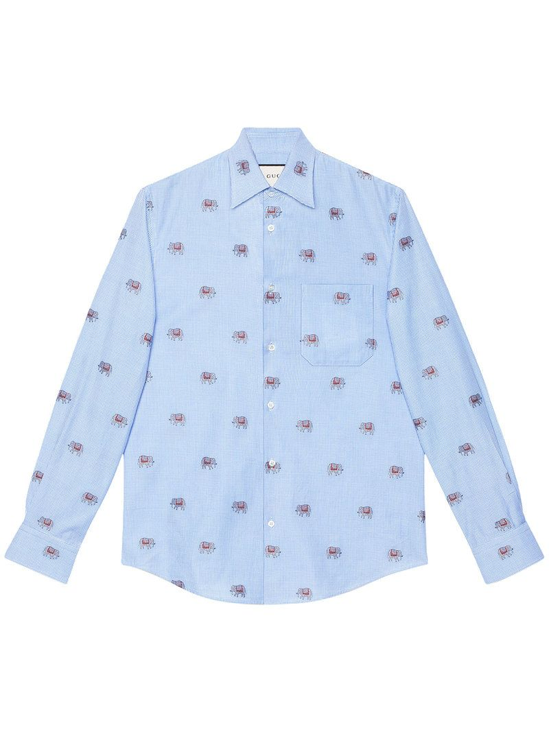 9dd6f3f87 GUCCI . #gucci #cloth # | Gucci Men | Blue long sleeve shirt, Shirts ...