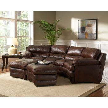 Stupendous Baron Leather Sectional With Nesting Ottomans Costco Must Evergreenethics Interior Chair Design Evergreenethicsorg