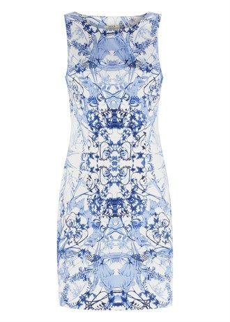 China Blue Shift Dress