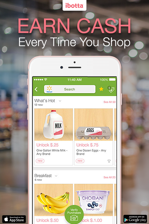 Install the free Ibotta app and get an extra $10 when you register