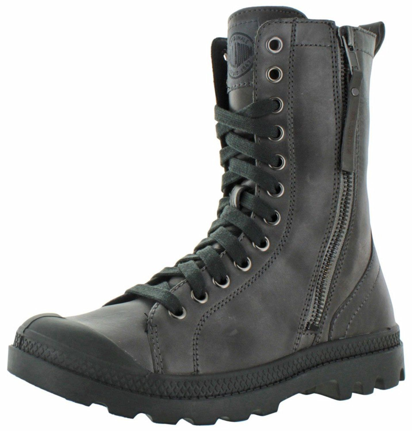 Palladium Women's Pampa Hi Rise L Zip Combat Boot -- Awesome boots. Click  the