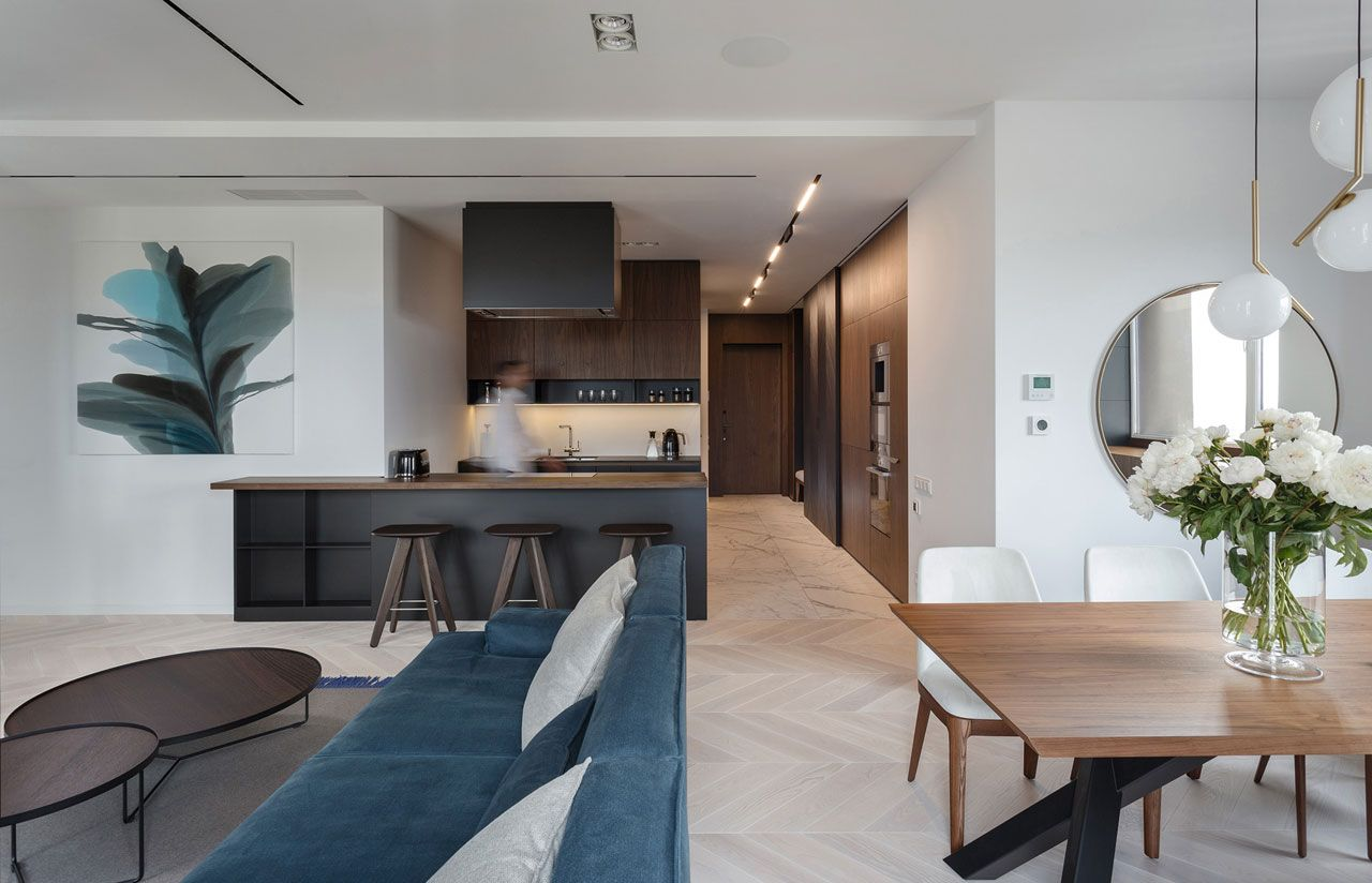 the River View Apartment was designed by SVOYA Studio