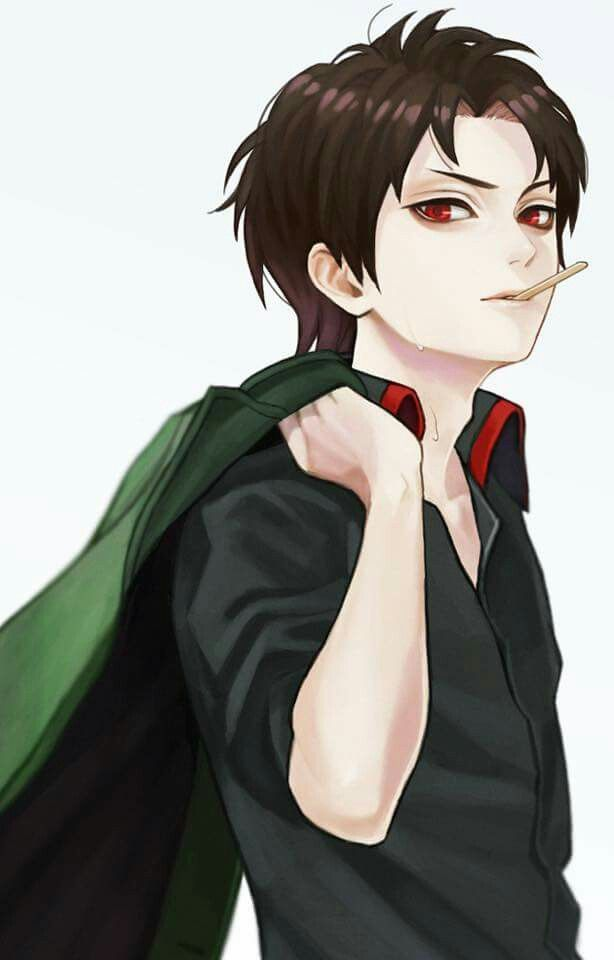 black hair red eyes bad boy anime boy pinterest