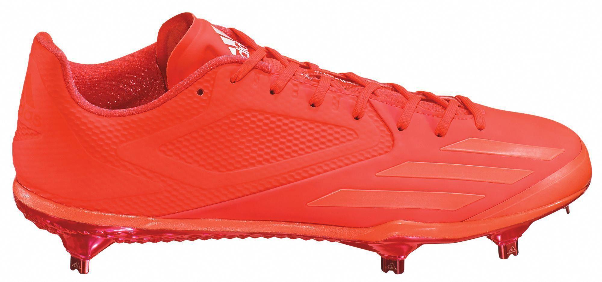 ccdd66a42832 adidas Men's adizero Afterburner 3 E Metal Baseball Cleats, Infrared # baseballcleats #baseballbases