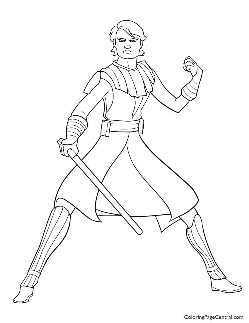Star Wars Anakin Skywalker 01coloring Page Star Wars Colors