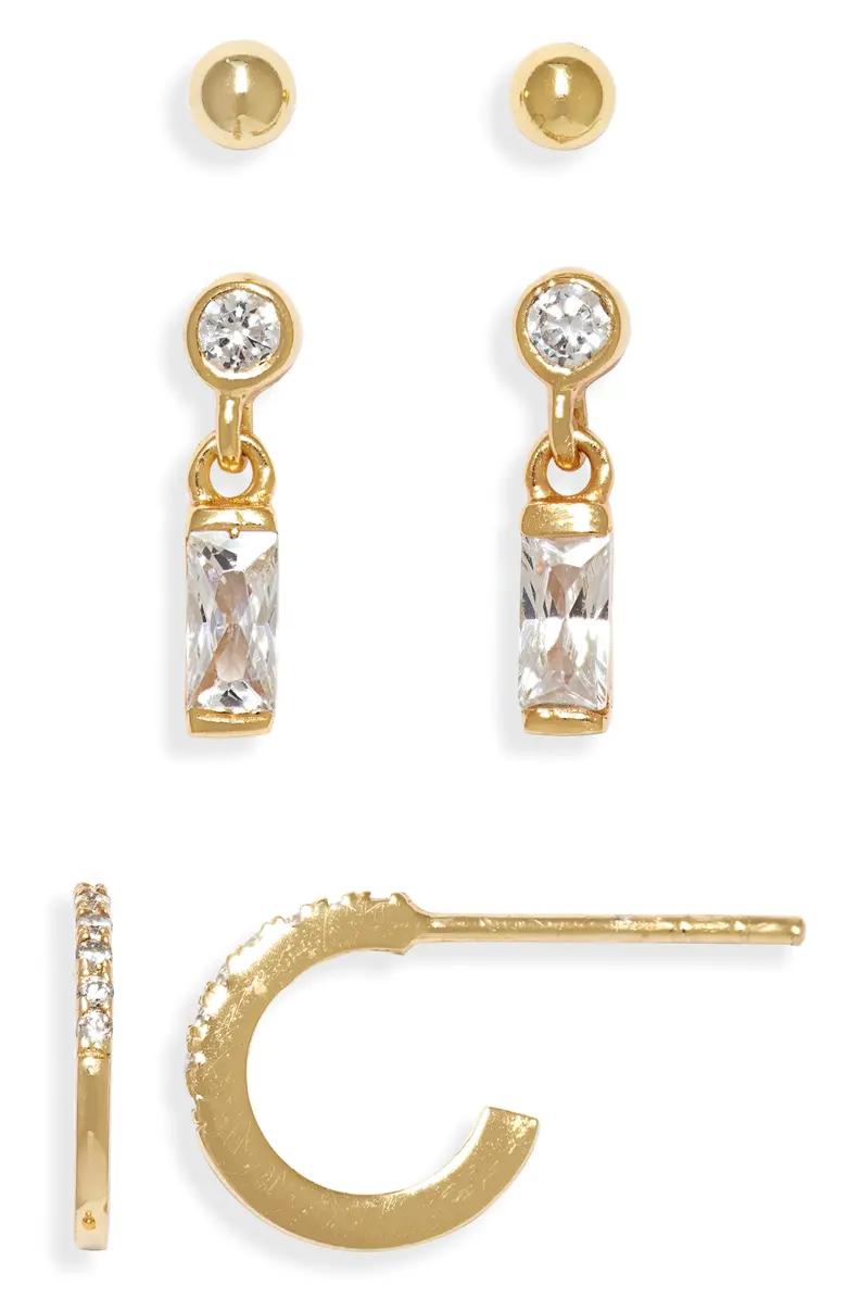 Argento Vivo Set of 3 Mismatched Earrings   Nordstrom