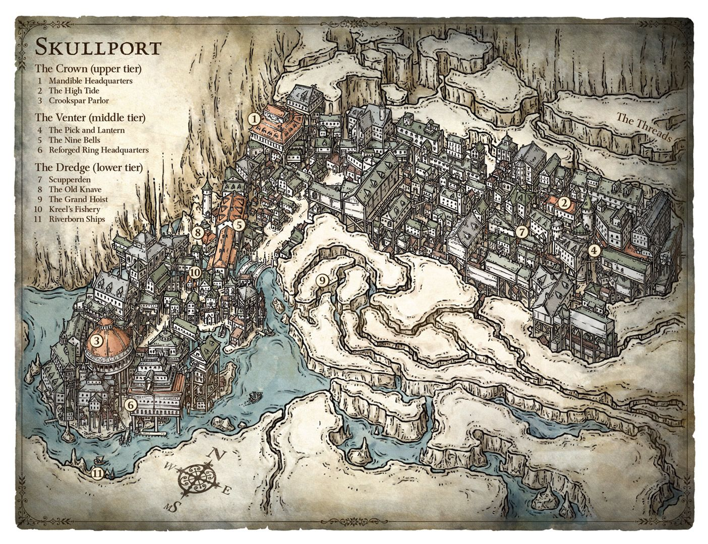 Skullport isometric map cartography Create your own roleplaying