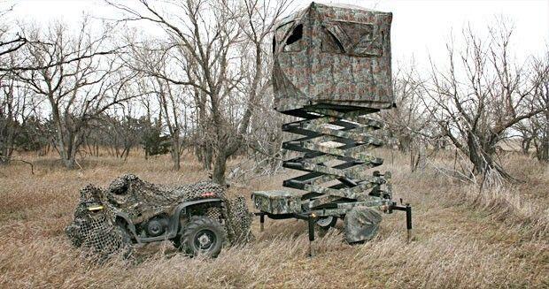 Scissor Lift Deer Blind Huntin Deer Hunting Blinds