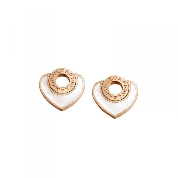 Bvlgari 18k Rose Gold Mother Of Pearl Earrings Or857757 Regular Price 2 250