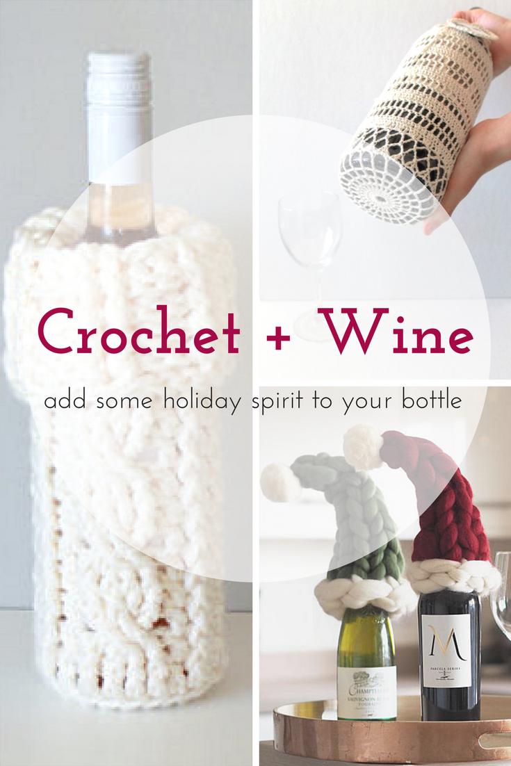 Crochet Wine Ideas | Aa/ Tejido Libre | Pinterest | Weihnachten und ...