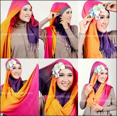 Tutorial Hijab Segi Empat Untuk Wajah Lonjong Mudah Dan Kreatif Hijab Wajah Kreatif