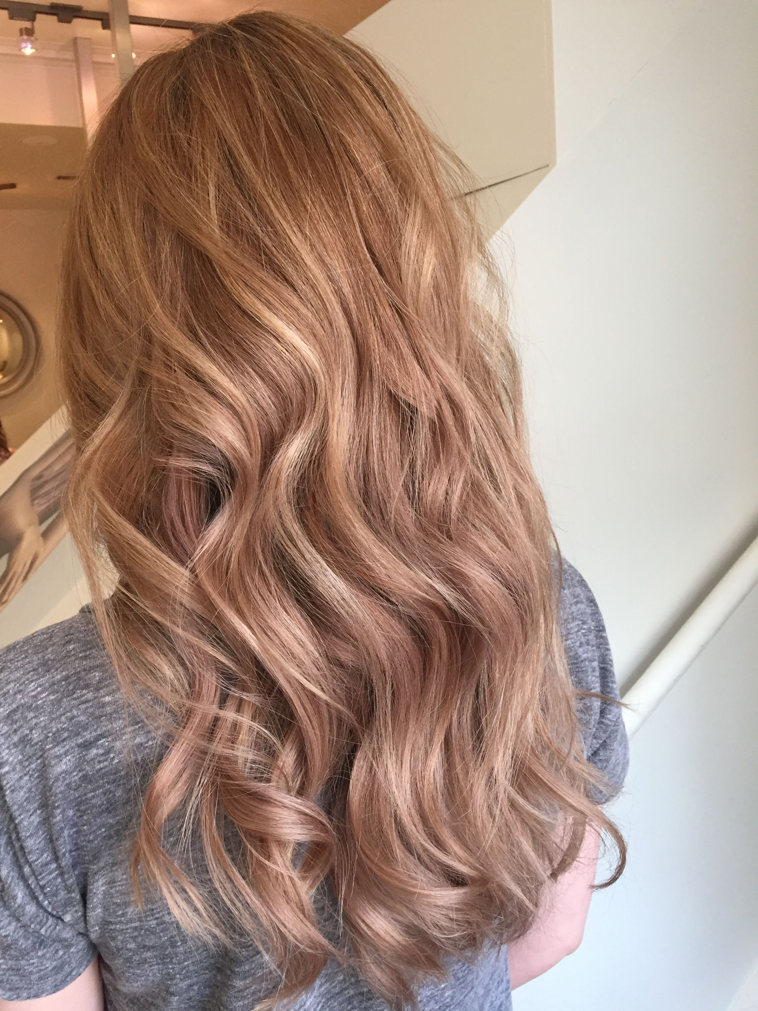 Rose Gold Hair Color Caramel Hair Color Light Brown Honey Hair Color