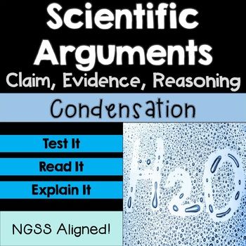 Claim Evidence Reasoning Scientific Argument