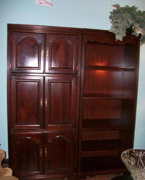 Broyhill Media Cabinet And Bookshelf