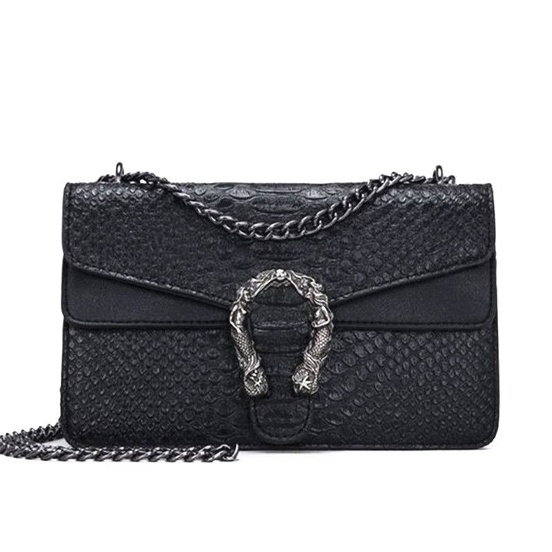 Brand Luxury Handbags Women Bags Designer Alligator Leather Crossbody Bags  Women High Quality Chain Women Messenger Bags 2019 39b3381b5ffcd