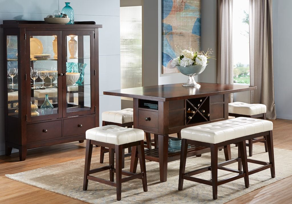 julian place chocolate 5 pc counter height dining room on rooms to go dining room furniture id=77124