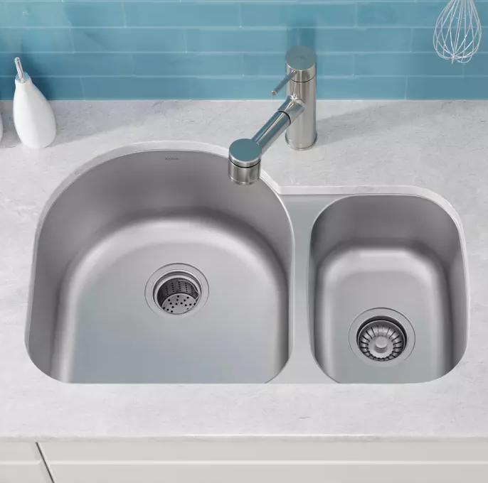 Kraus Kitchen Sink Undermount Sink Satin Finish Kbu21 Sink Double Bowl Kitchen Sink Undermount Stainless Steel Sink
