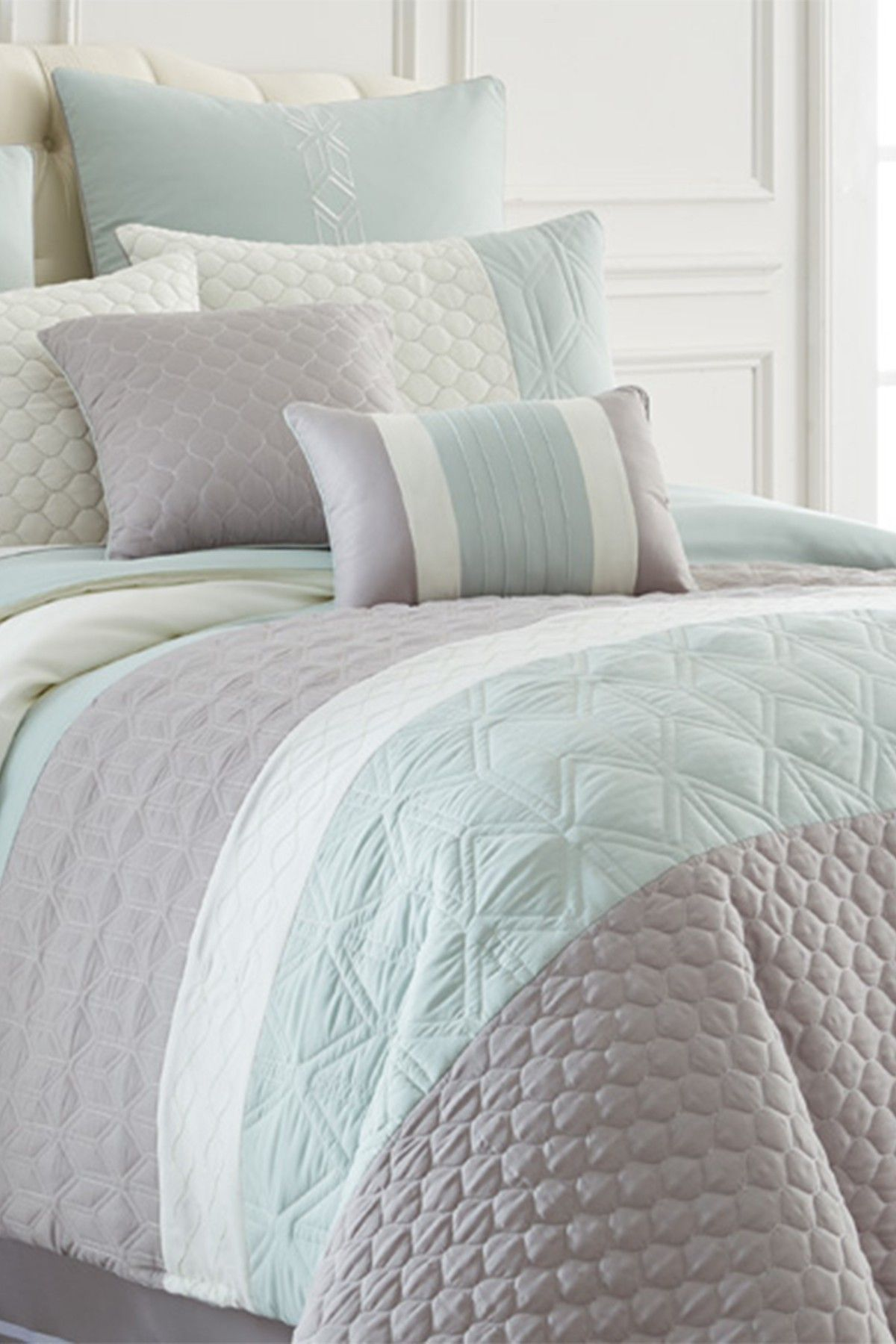 8 piece comforter set king Amrapur 8 Piece Embroidered Comforter Set   Palisades | bed bath  8 piece comforter set king