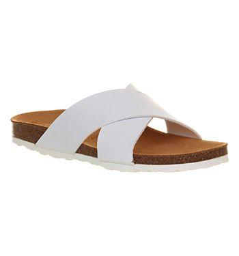 Office Hoxton Cross Strap White - Sandals