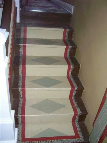 Old Stairs.... Painted To Look Like A Rug. Deb | My Artsy Fartsy Creations  | Pinterest | Balconies, Ceilings And Doors