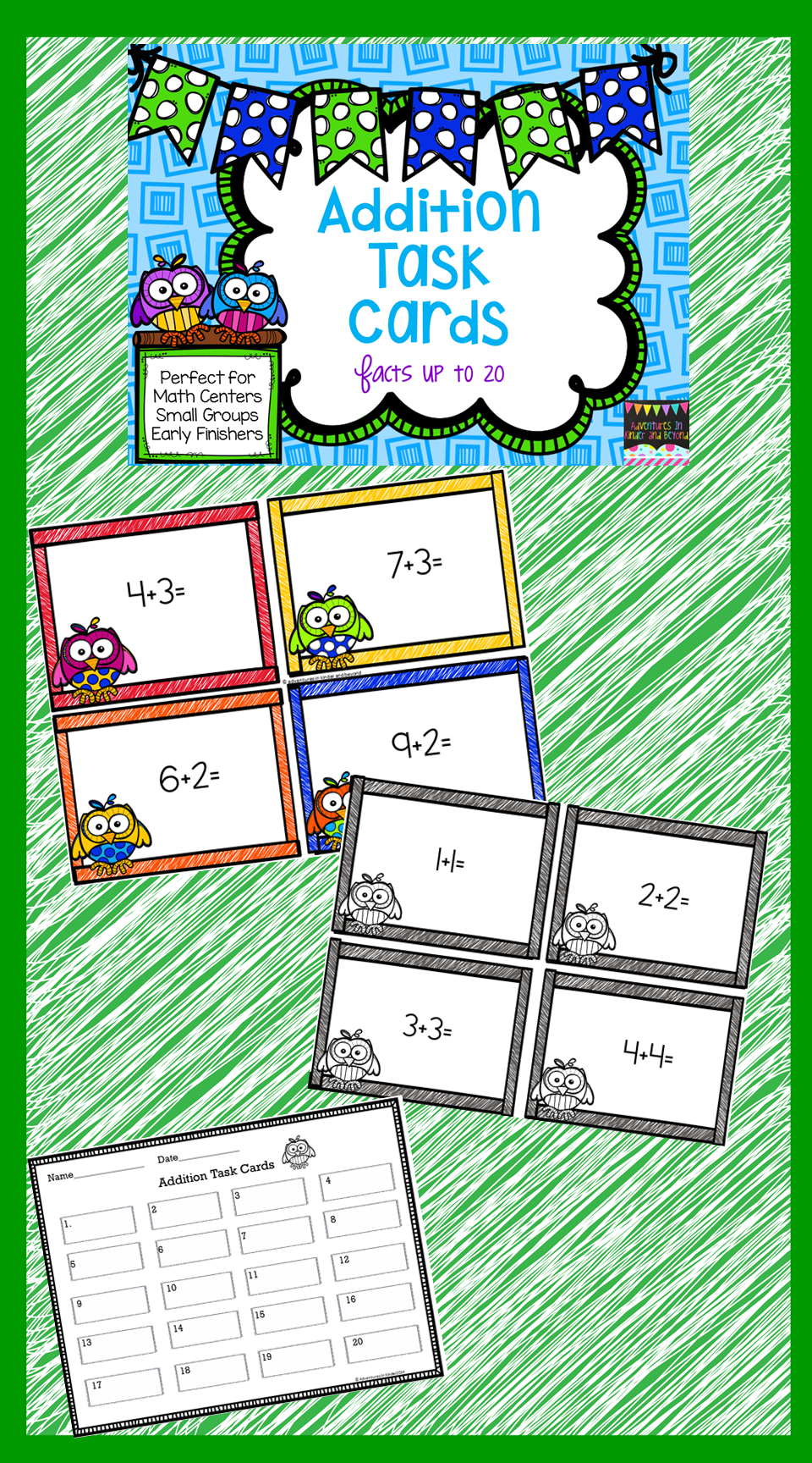 Addition Task Cards   Pinterest   Early finishers, Math facts and Math
