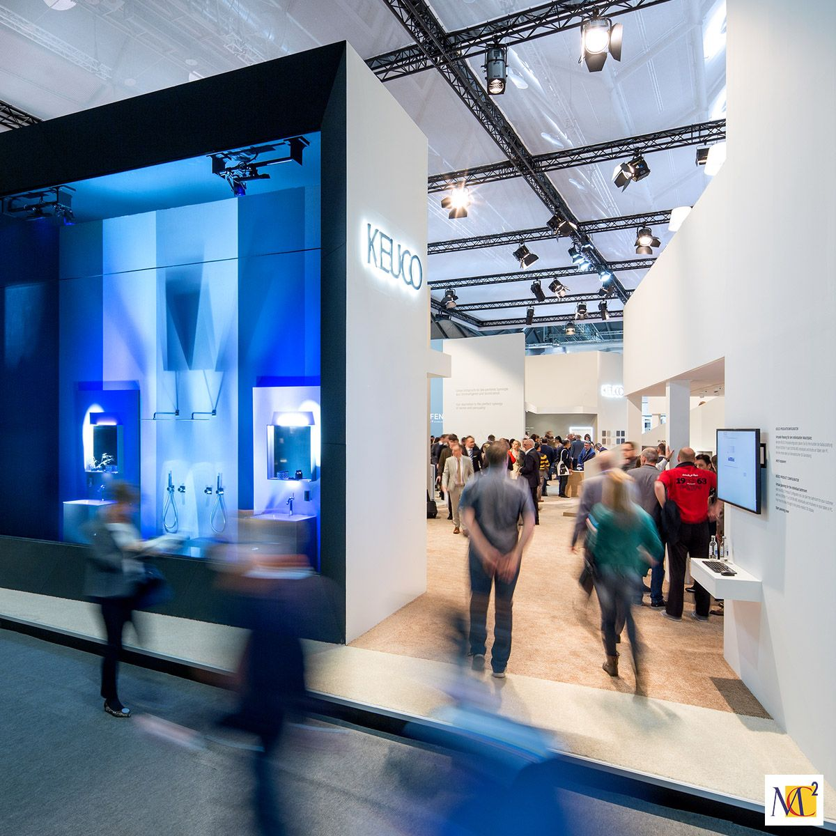 Mc2 Europe Designed A Sculptural Display For Keuco At Ish In Frankfurt Germany Placing Their Quality Bathr Brand Experience Innovation Design Event Marketing