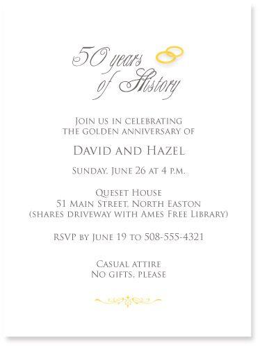 50th sample invitation invite pinterest anniversaries 50 50th sample invitation wedding anniversary celebrationgolden stopboris Gallery