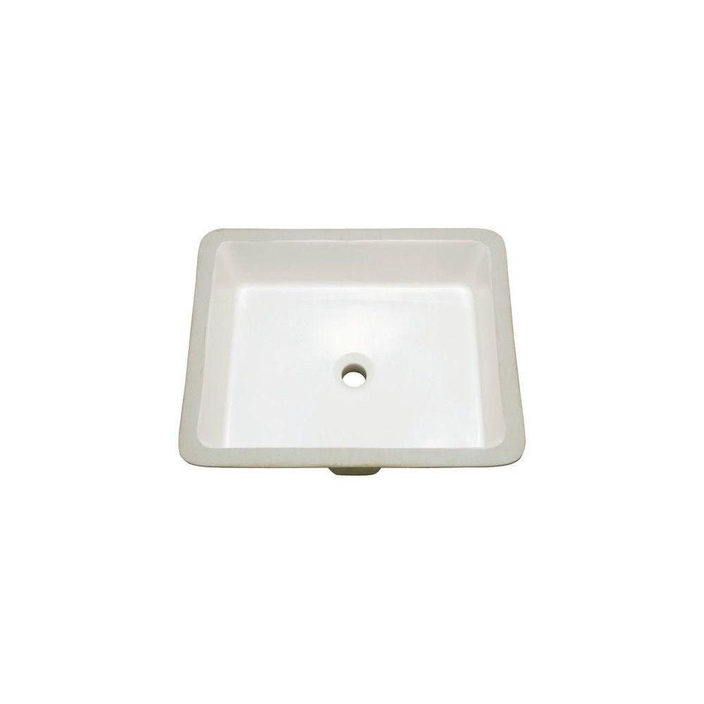 Proflo Pf1713u 19 7 8 Undermount Bathroom Sink With Overflow