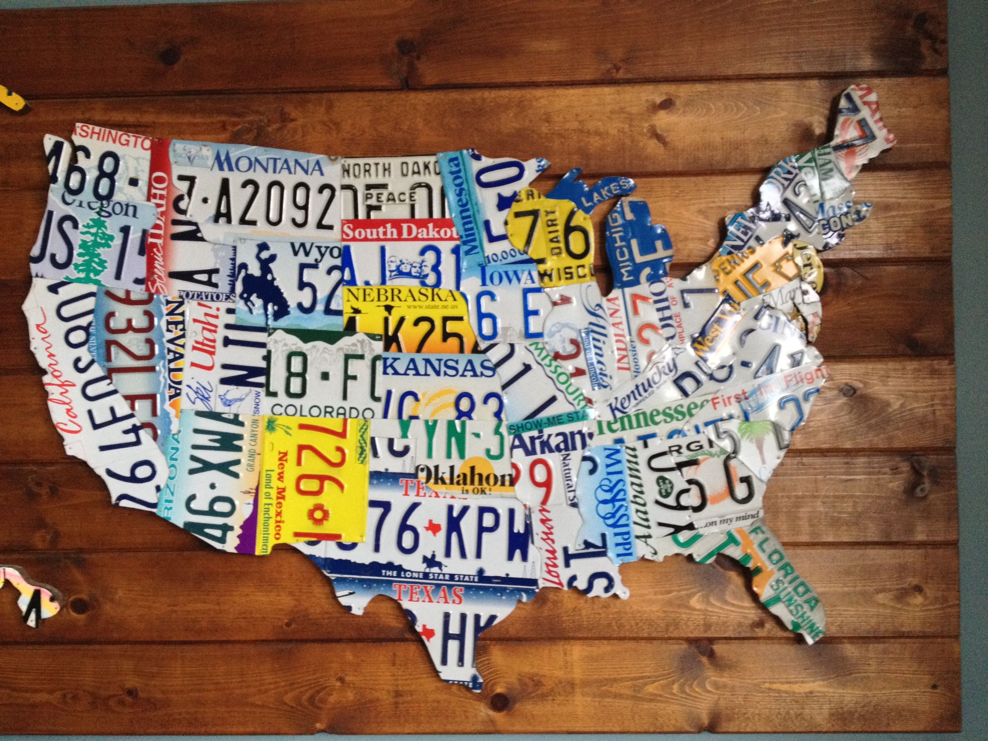 Map Of The United States I Made From Old License Plates License - Us-map-made-out-of-license-plates