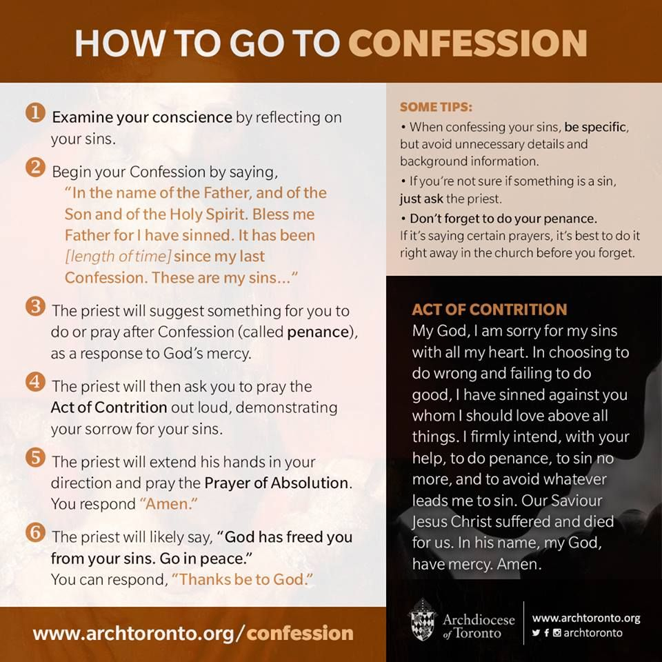 The need for prayer before confession