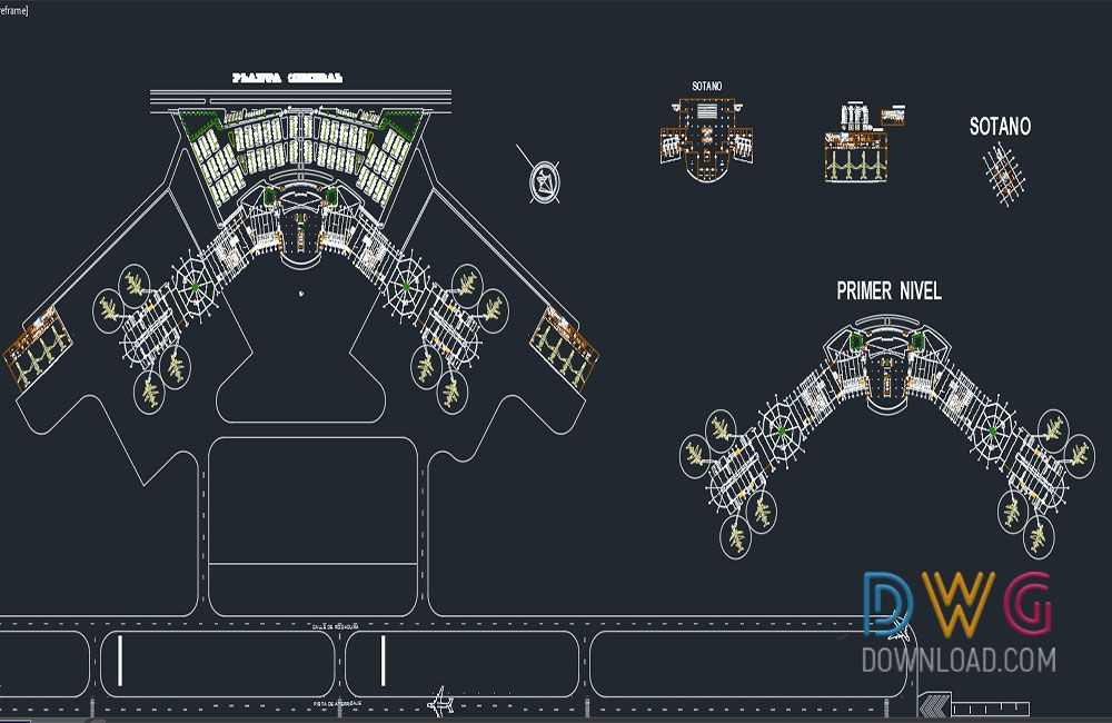 Classroom Furniture Dwg : Airport and control tower dwg the