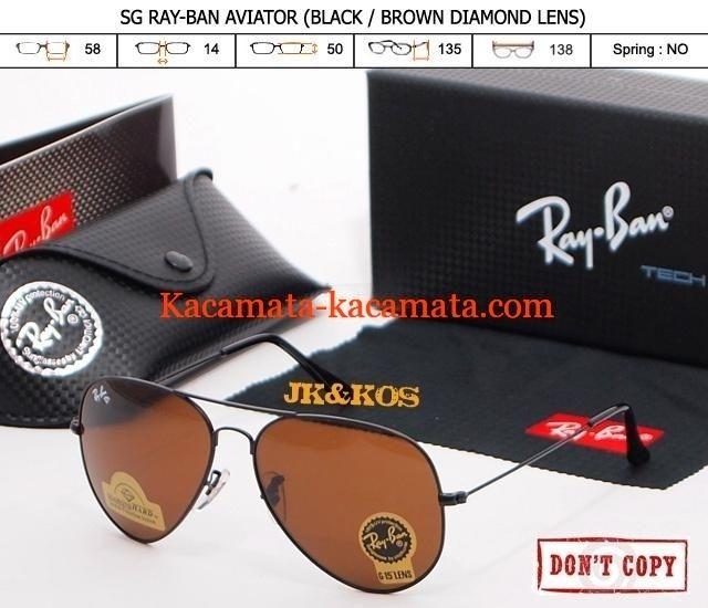 Kacamata rayban aviator diamond brown uvx lensa kaca murah  dbebe91629