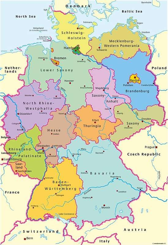 Map Of German States And Switzerland In 1764 900000 Germany
