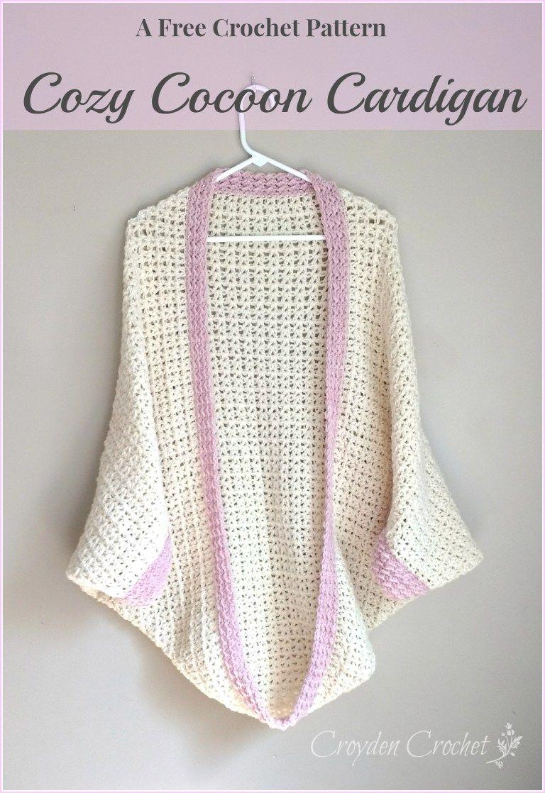 Crochet Cozy Cocoon Cardigan | Ponchos, Patrón de ganchillo y ...