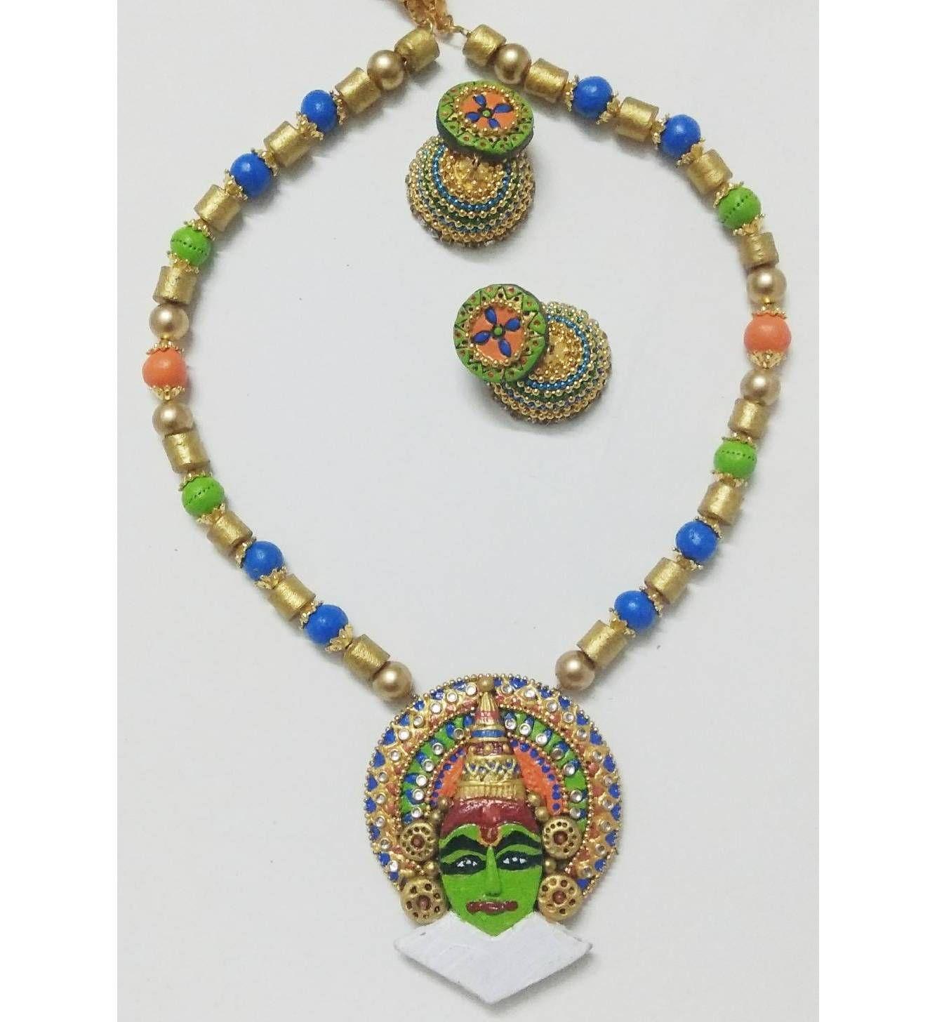 Buy Terracotta Handmade Jewelry Kerala Kathakali Design Online