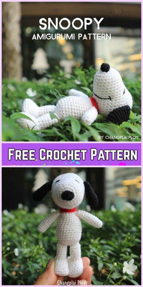Crochet Snoopy Plush Toys Amigurumi Pattern Free & Paid | Pinterest ...