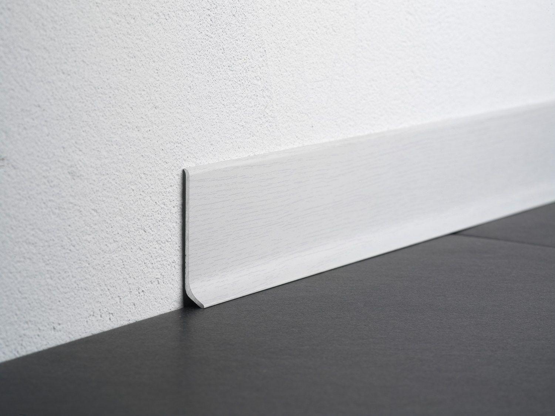 Battiscopa in alluminio effetto legno rovere sbiancato ba
