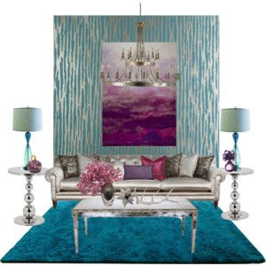 Purple Metal And Teal Home Decor Accent Wall Decor