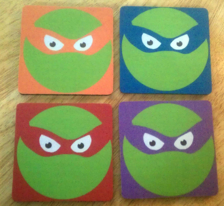 Teenage mutant ninja turtles inspired minimalist coasterse this