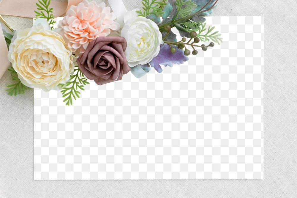 Blank Card Mockup With Flowers Free Image By Rawpixel Com Ake Card Template Blank Cards Floral Invitation
