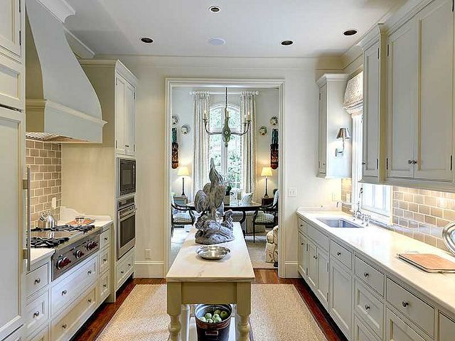 narrow kitchen with island New on the market: one of my favorite houses