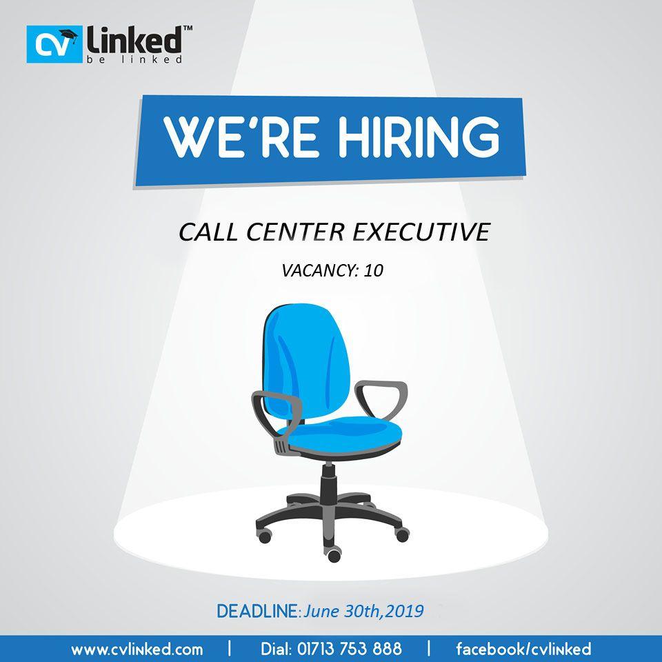 Call Center Executive Cvlinked Com Call Center Online Cv Job Circular