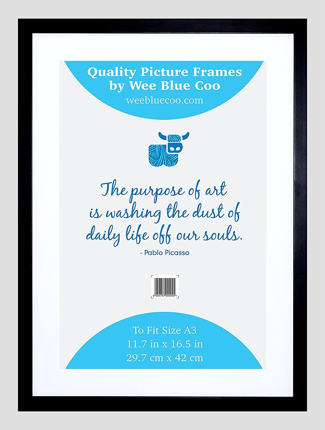 Amazon Com A3 Wooden Black Picture Frame 27 9 X 42 Cms 11 7 Inch X 16 5 Inch Wall Wood Photo Frame Acrylic Safety Glass By Wee Blue Black Picture Frames Wooden Picture Picture Frames