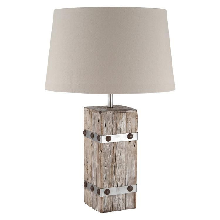 Woodmetal heavy cotton table lamp complete vacation time woodmetal heavy cotton table lamp complete aloadofball Images
