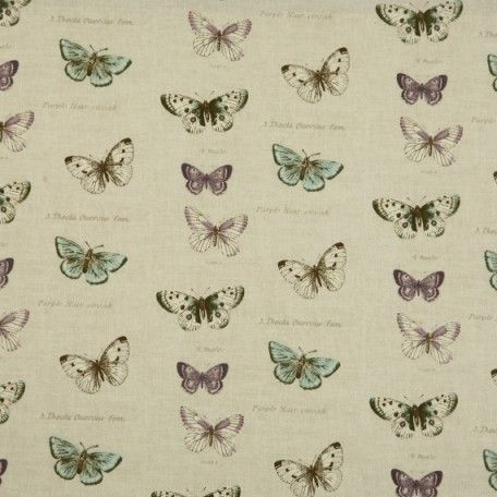 Butterfly Linen Oilcloth Tablecloth | Wipe Easy Tablecloths