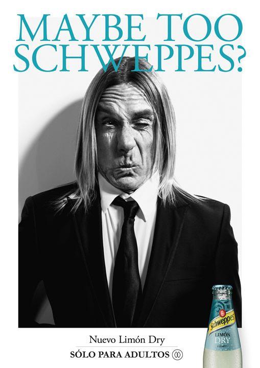 Iggi Pop y el nuevo Límón Dry ¿Se convertirá en el nuevo hombre de la tónica Schweppes? LatinSpots.com