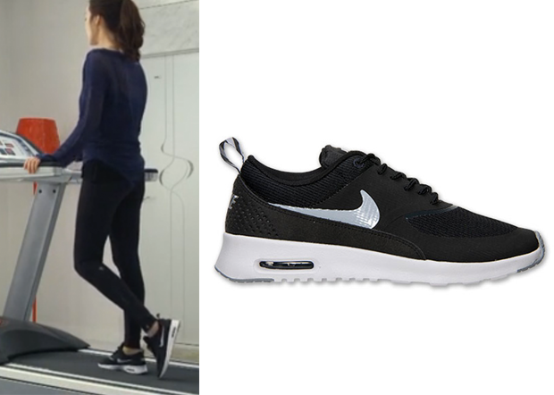 nike air max thea black print trainers