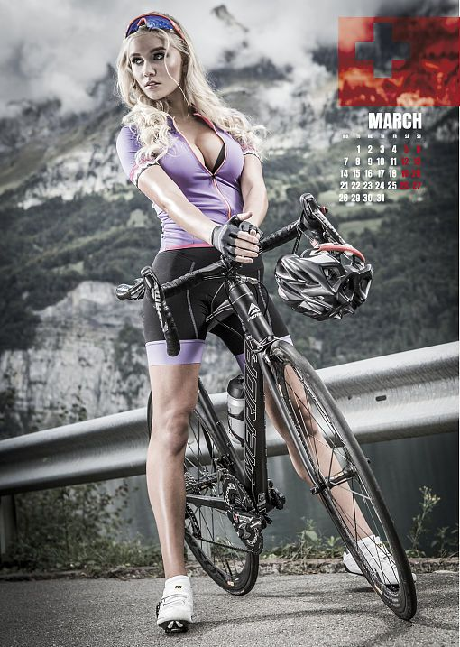 sexy cycling kalender swiss 2016 und 2015 girl bicycle. Black Bedroom Furniture Sets. Home Design Ideas
